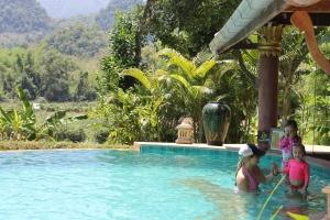 Elephant Pool Luang Prabang